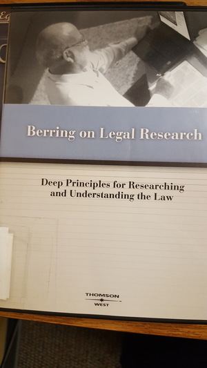 Berring on Legal Research