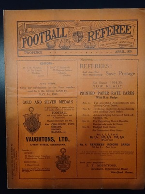 Football Referee - 1935-04 - April, The