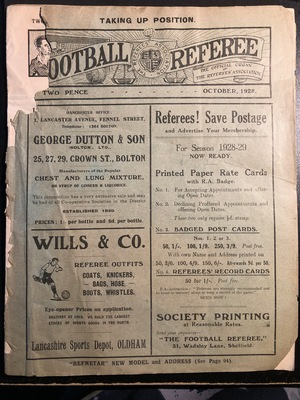 Football Referee - 1928-10 - October, The