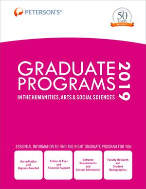 Graduate Programs in the Humanities, Arts and Social Sciences 2019 (Grad 2)