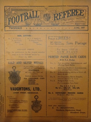 Football Referee - 1937-06 - June, The