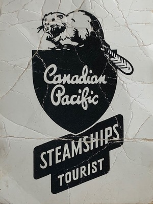 Canadian Pacific Steamship Travel Tag
