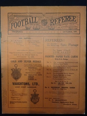 Football Referee - 1936-10 - October, The