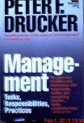 Management: Tasks, Responsibilities, Practices (Harper & Row management library)