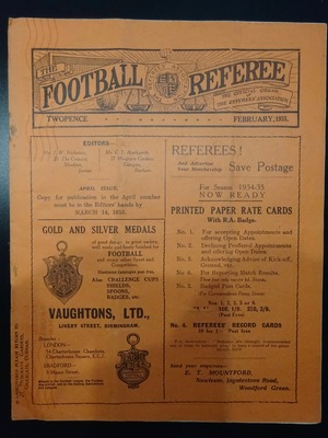 Football Referee - 1935-02 - February, The