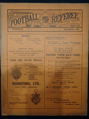 Football Referee - 1934-12 - December, The