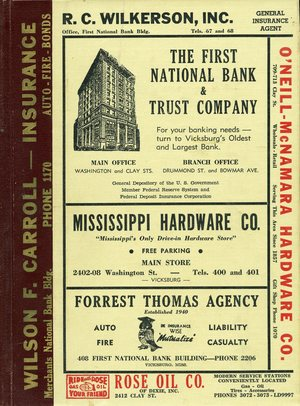 1958, Vicksburg – Warren County, Mississippi Polk City Directory