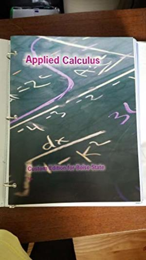 Applied Calculus (BSU Custom)