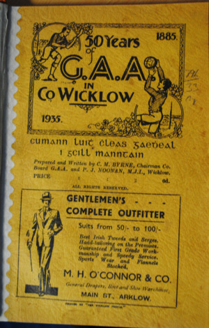 50 Years of the GAA in Co. Wicklow.