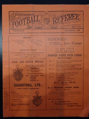 Football Referee - 1933-12 - December, The