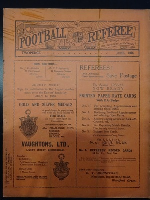 Football Referee - 1936-06 - June, The