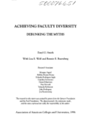 Achieving faculty diversity: debunking the myths