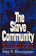 Slave Community: Plantation Life in the Antebellum South, The