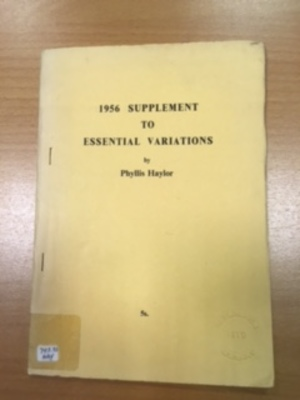 1956 Supplement to Essential Variations