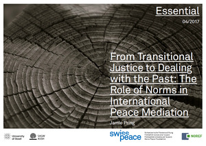 From Transitional Justice to Dealing with the Past: The Role of Norms in International Peace Mediation