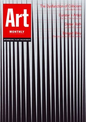 Art Monthly 269: September 2003