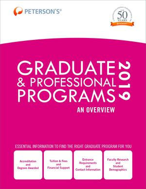Graduate and Professional Programs: an Overview 2019 (Grad 1)