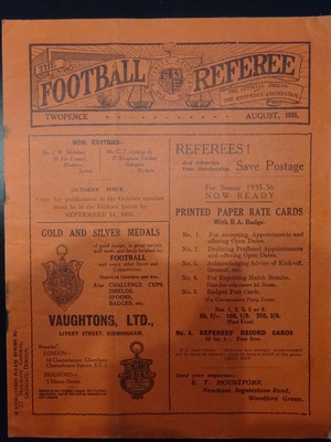Football Referee - 1935-08 - August, The