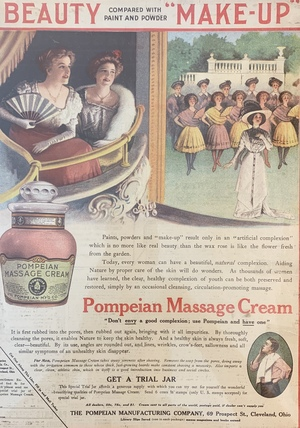 Pompeian Massage Cream Advertisement