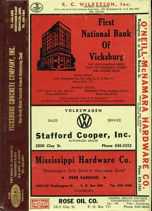 1966, Vicksburg – Warren County, Mississippi Polk City Directory