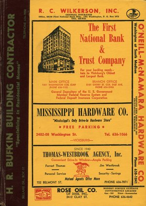 1962, Vicksburg – Warren County, Mississippi Polk City Directory