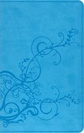ESV Thinline Bible (TruTone, SkyBlue, Ivy Design)