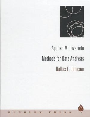 Applied Multivariate Methods for Data Analysts
