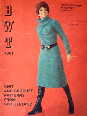 BWT Knit and Crochet Patterns From Switzerland c. 1971