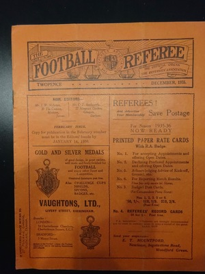 Football Referee - 1935-12 - December, The