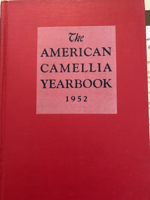 American Camellia Yearbook 1952