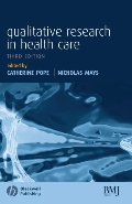 Qualitative Research in Health Care [CONTACT SJOG LIBRARY TO BORROW]