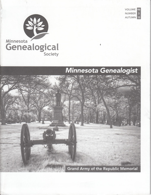 Minnesota Genealogist 47_03 Autumn 2016