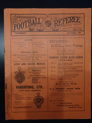 Football Referee - 1933-10 - October, The