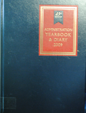 Administration Yearbook and Diary 2009