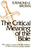 Critical Meaning of the Bible, The
