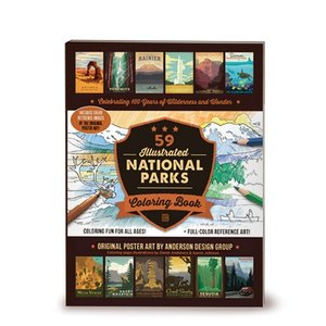 59 Illustrated National Parks Coloring Book